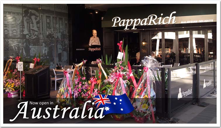Navigate to PappaRich in Australia Now!