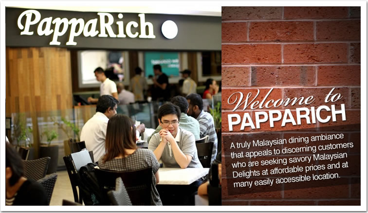 Navigate to Welcome to PappaRich